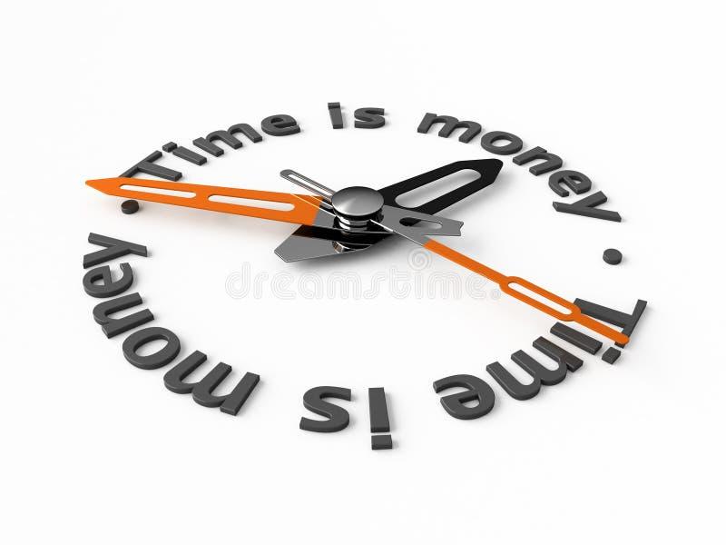 货币时间 向量例证