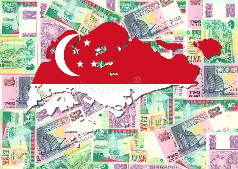 货币映射新加坡 库存例证