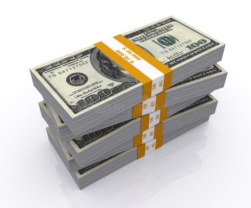 货币栈 向量例证