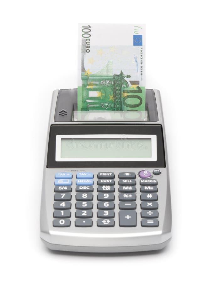 货币概念-打印货币 库存图片