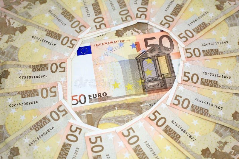货币欧元堆 免版税库存照片
