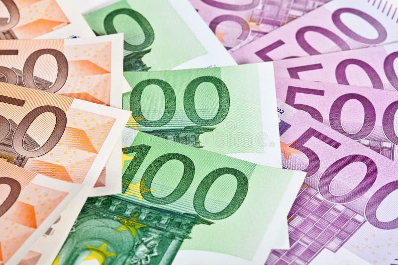 货币欧元纸张 库存图片