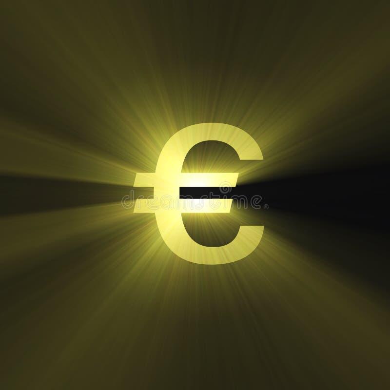 货币欧洲火光光符号 向量例证