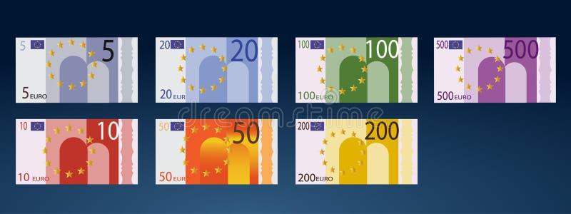 货币欧洲 皇族释放例证
