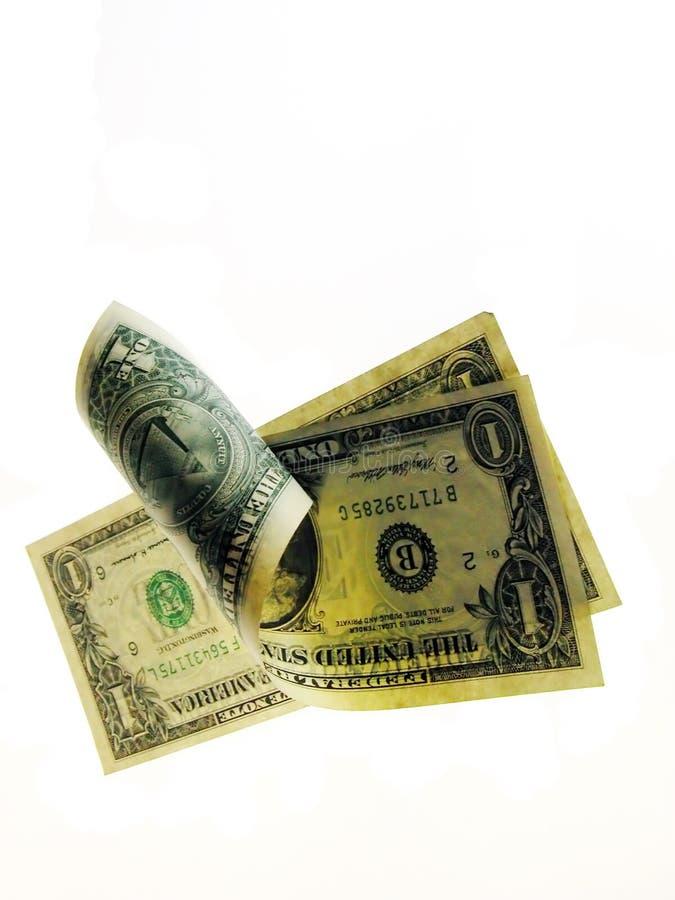 货币滚 库存图片