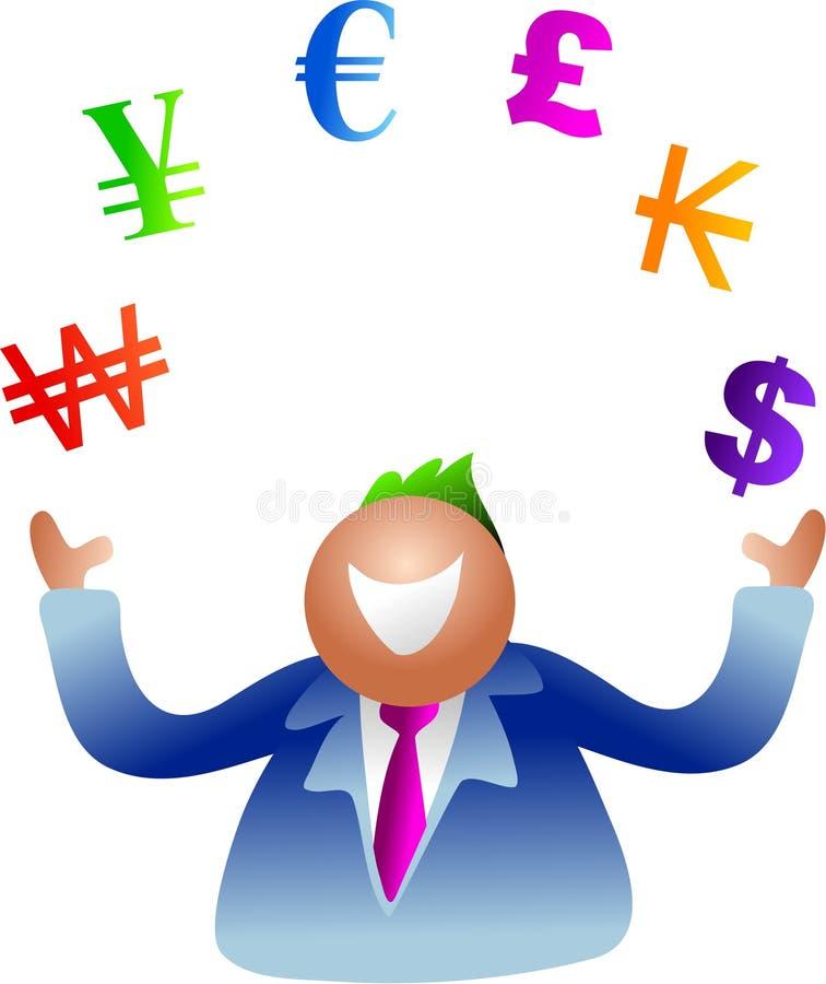 货币玩杂耍 向量例证