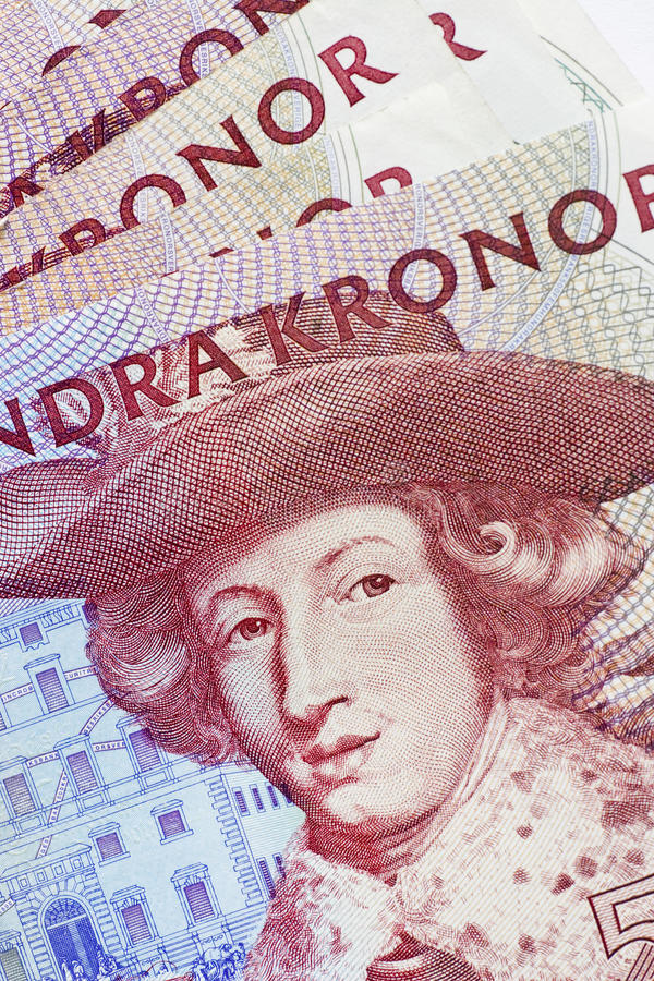 货币瑞典 库存图片