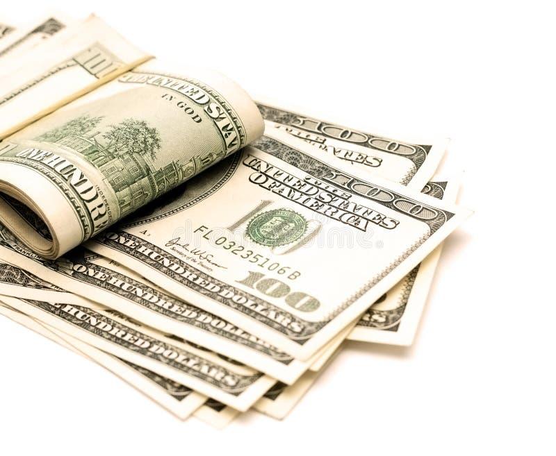 货币白色 免版税库存照片