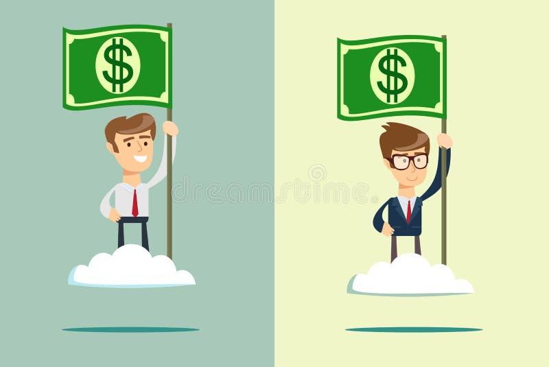 货币的次幂 向量例证