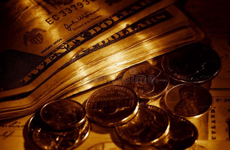 货币矿穴 免版税库存照片