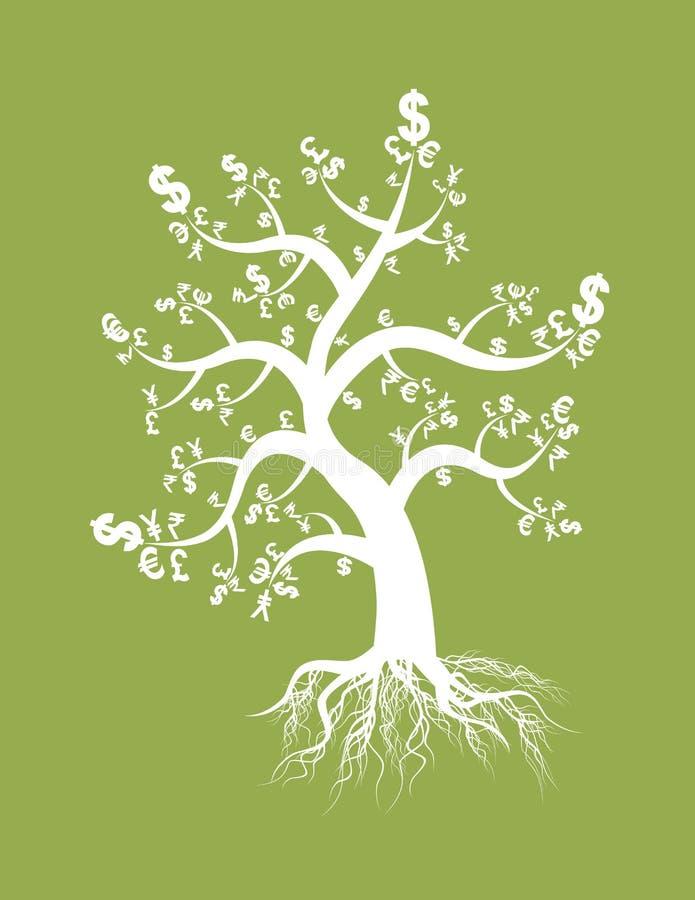 货币符号结构树 向量例证