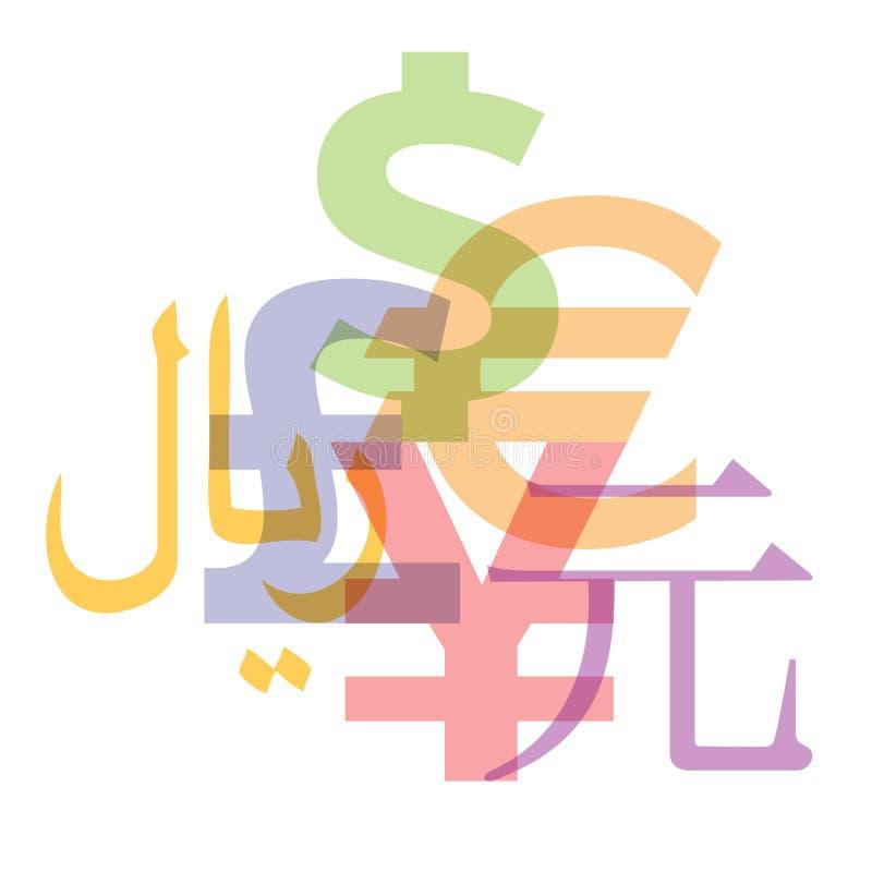 货币符号 向量例证