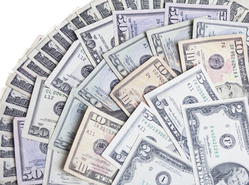 货币纸张我们 免版税图库摄影
