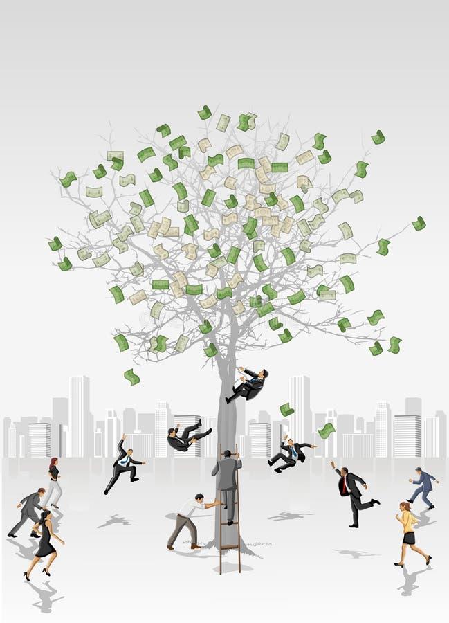 货币结构树 皇族释放例证