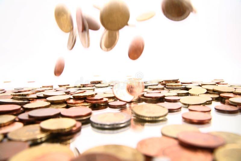 货币落 库存图片