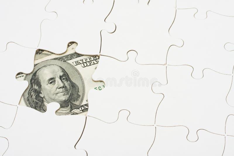 货币解决问题 库存照片