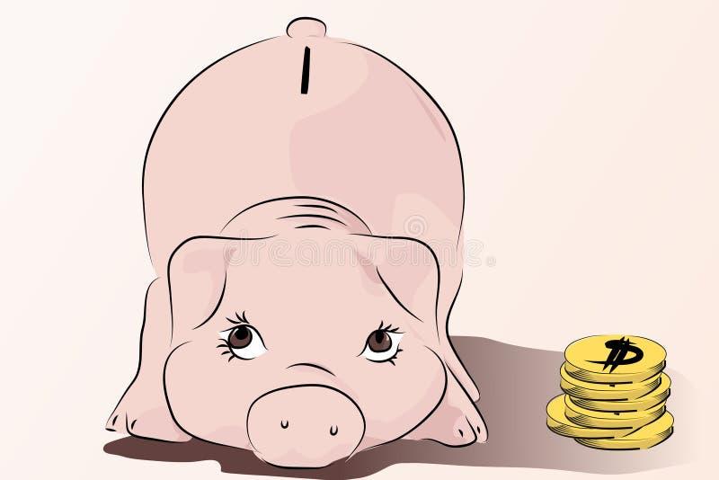 货币贪心除您之外 向量例证