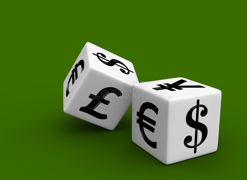 货币赌博的市场 向量例证