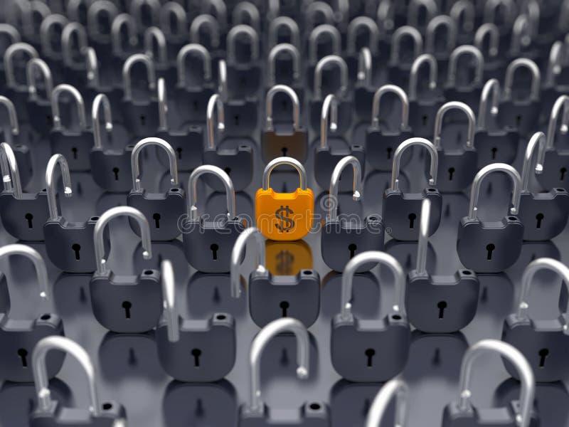 货币锁定了货币挂锁安全