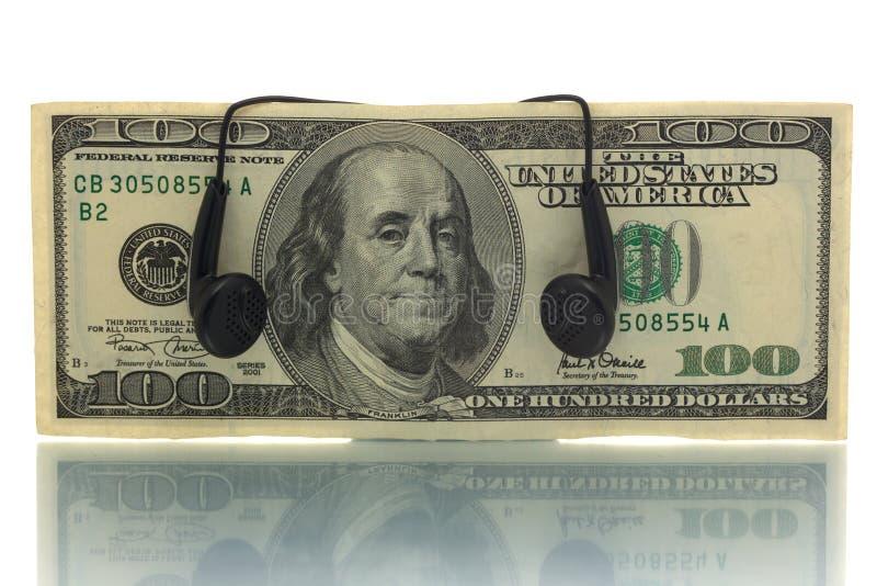 货币音乐 库存图片
