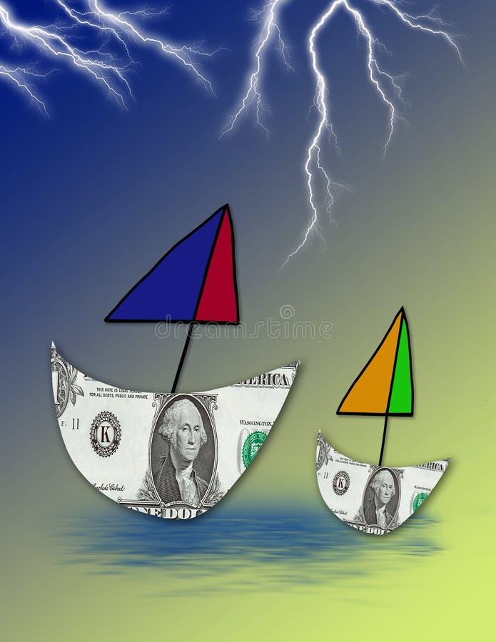 货币麻烦 向量例证