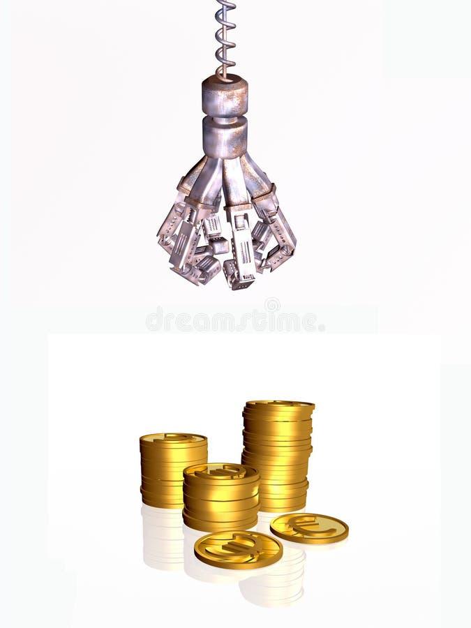 货币pincher 库存例证