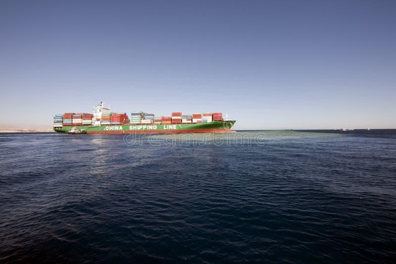 货柜船 图库摄影