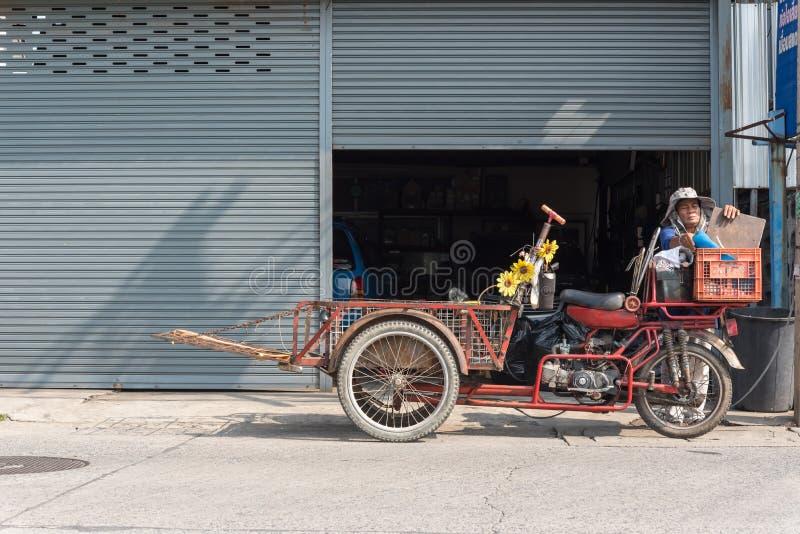 货物三轮车(沙令,Zaleng)购买未使用的项目 免版税库存照片