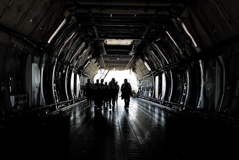 货物乘员组飞机 免版税库存照片