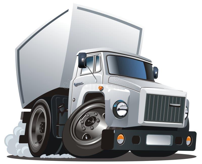货物动画片送货卡车向量 向量例证