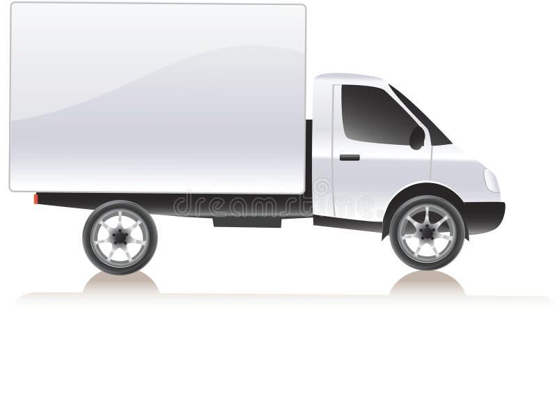 货物发运查出的卡车向量白色 向量例证