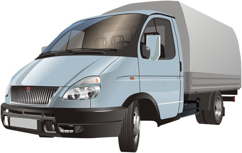 货物发运查出的卡车 皇族释放例证