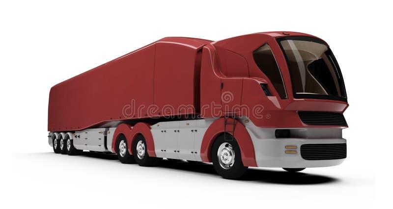 货物概念远期查出的卡车视图 库存例证
