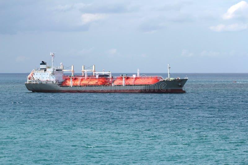 货物气体船 库存图片