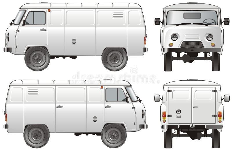 货物送货卡车向量 库存例证