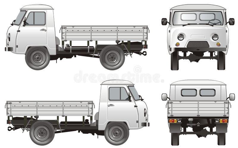 货物送货卡车向量 向量例证