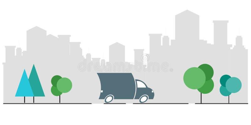 货物送货服务,快行,运输公司,交货单,跟踪传染媒介包裹结构 r 皇族释放例证