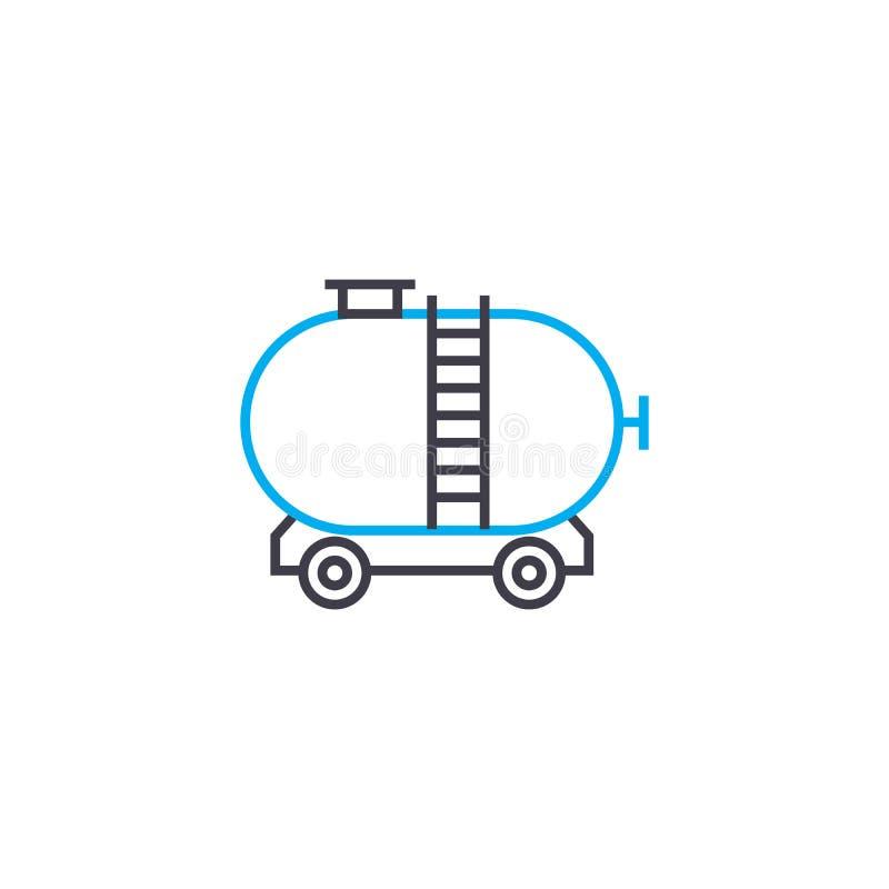 货物铁路运输线性象概念 运送铁路运输线传染媒介标志,标志,例证 向量例证