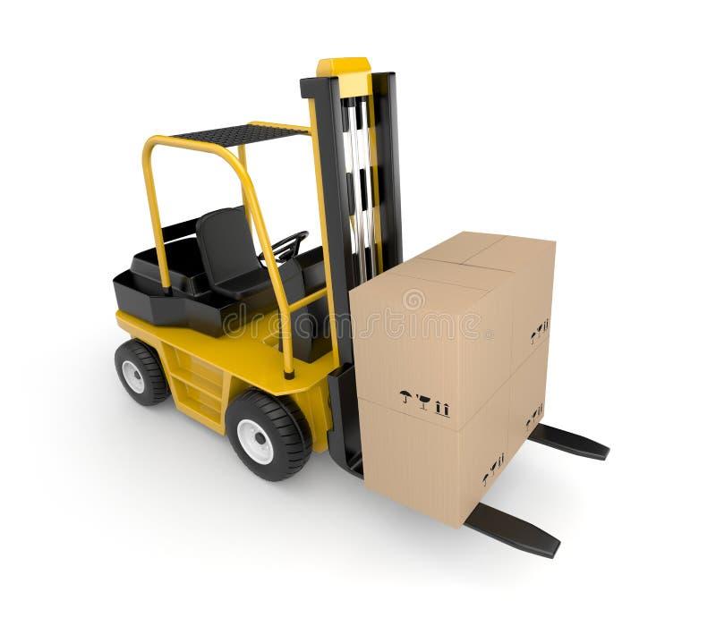 货物铲车 库存例证
