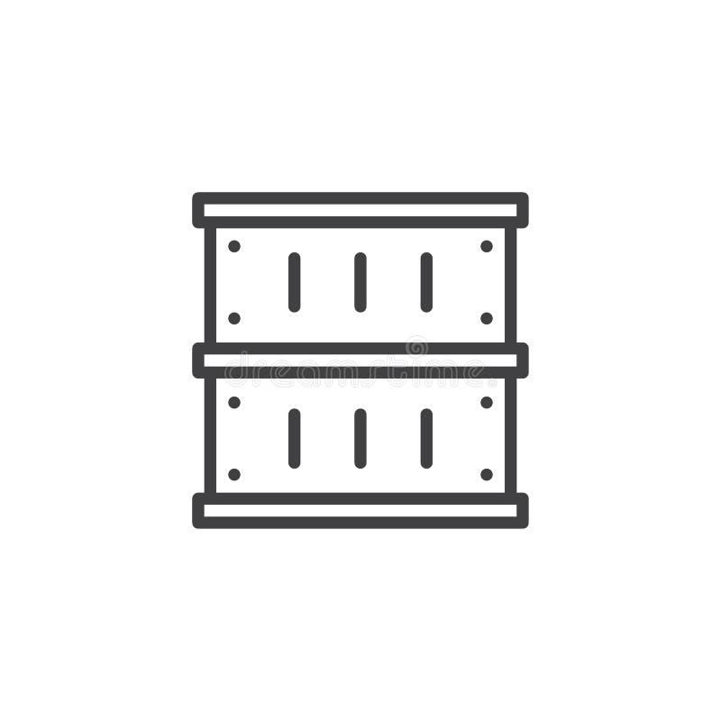 货箱概述象 库存例证