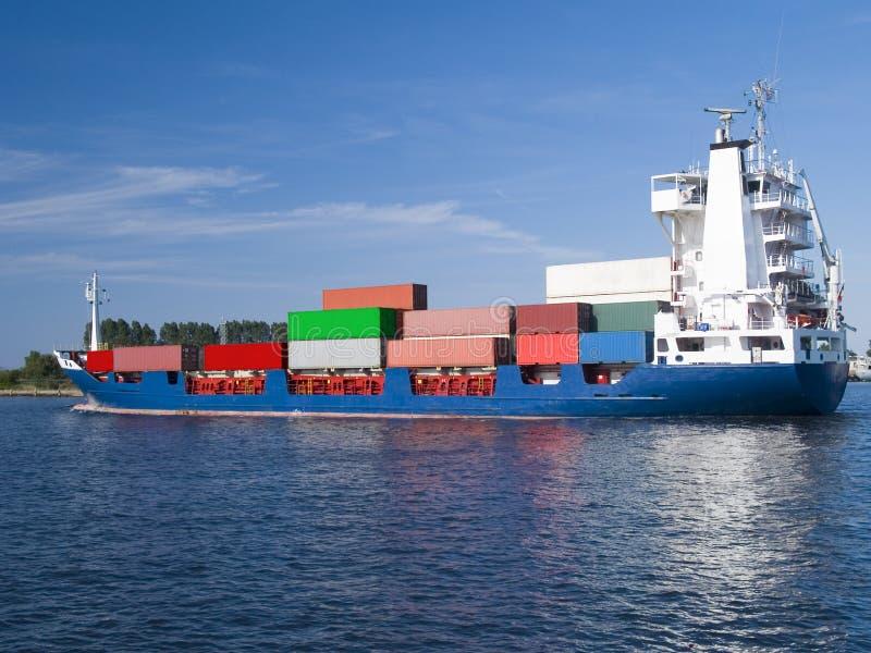 货箱船 免版税图库摄影