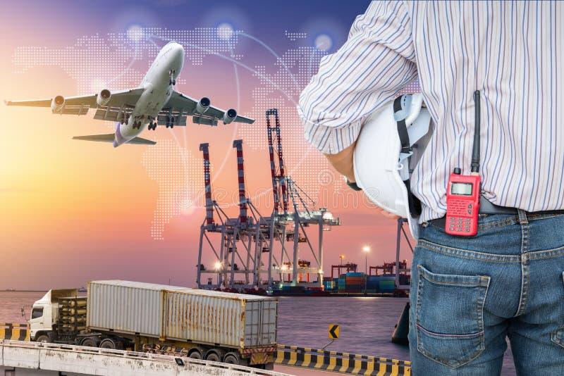 货船终端和后勤学transportati重工业  免版税图库摄影