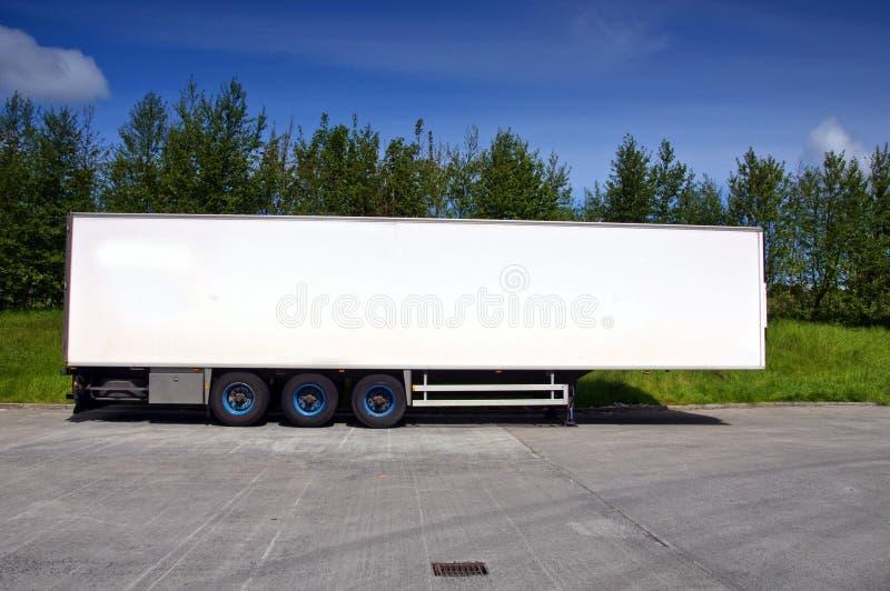 货车使用费运输的卡车拖车 库存图片