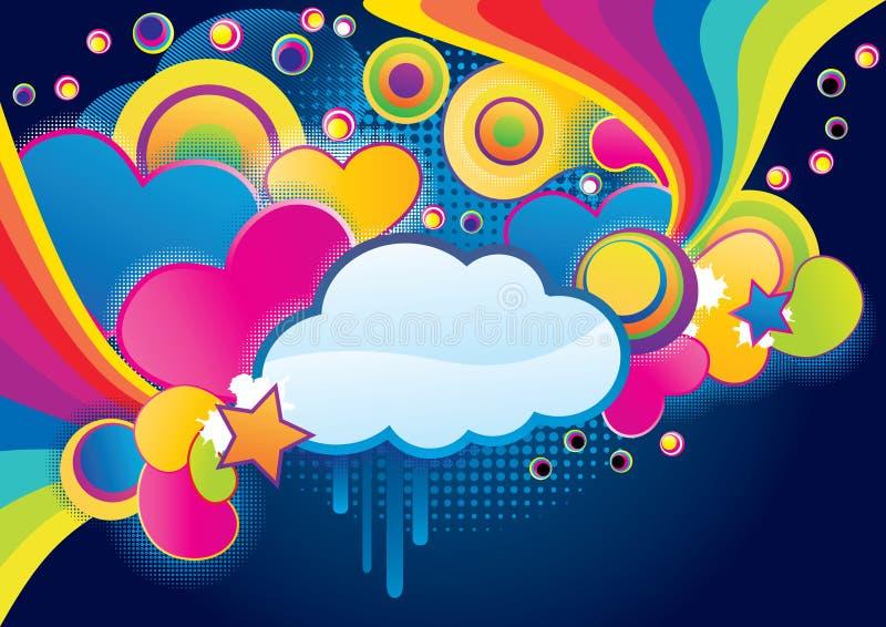 质朴的云彩 向量例证