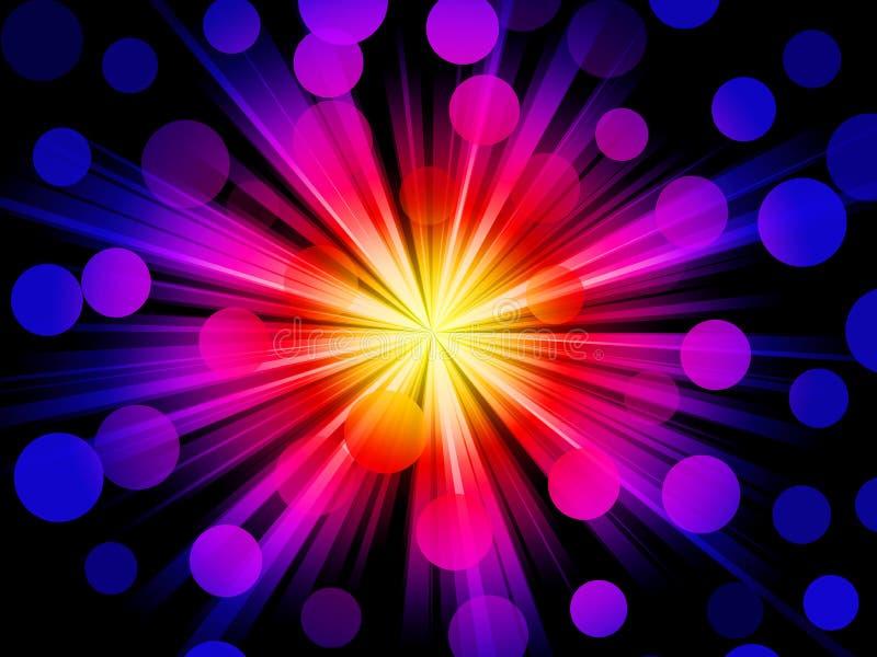 质朴的光 向量例证