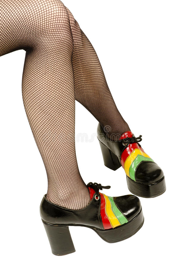 质朴的平台鞋子 库存照片