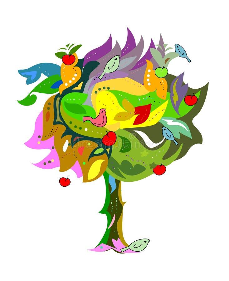 质朴的结构树 皇族释放例证