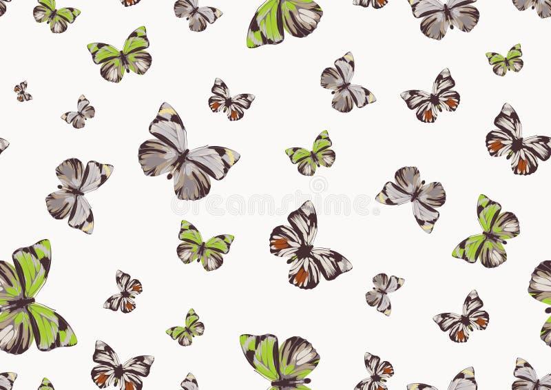 质朴的蝴蝶 库存例证