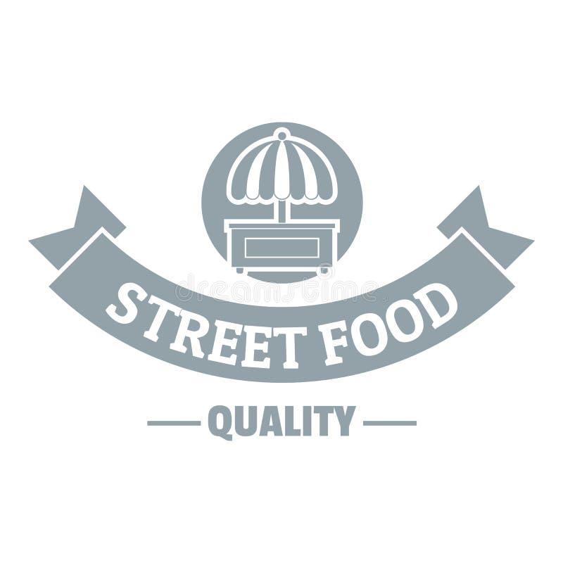 质量街道食物商标,简单的灰色样式 库存例证