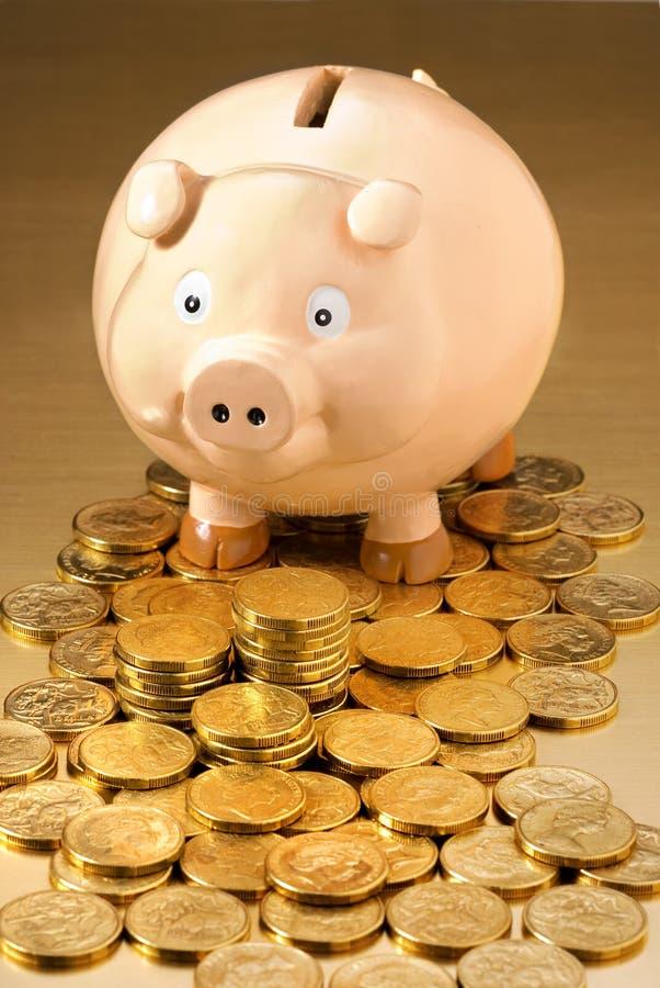 贪心澳大利亚的银行票据 免版税库存照片